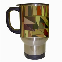 Earth Tones Geometric Shapes Unique Travel Mugs (white)