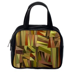 Earth Tones Geometric Shapes Unique Classic Handbags (One Side)