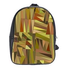 Earth Tones Geometric Shapes Unique School Bags(Large)