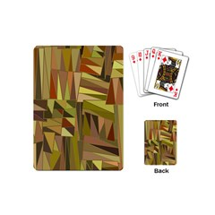 Earth Tones Geometric Shapes Unique Playing Cards (mini)