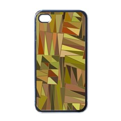 Earth Tones Geometric Shapes Unique Apple Iphone 4 Case (black)