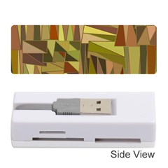 Earth Tones Geometric Shapes Unique Memory Card Reader (stick)