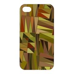 Earth Tones Geometric Shapes Unique Apple iPhone 4/4S Premium Hardshell Case
