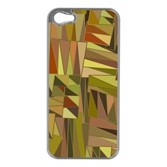Earth Tones Geometric Shapes Unique Apple iPhone 5 Case (Silver)