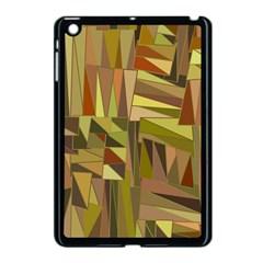 Earth Tones Geometric Shapes Unique Apple iPad Mini Case (Black)