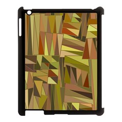 Earth Tones Geometric Shapes Unique Apple iPad 3/4 Case (Black)