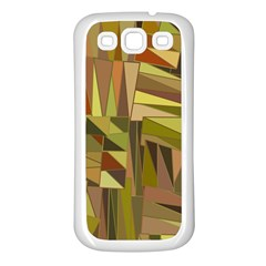 Earth Tones Geometric Shapes Unique Samsung Galaxy S3 Back Case (White)