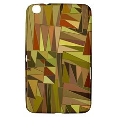 Earth Tones Geometric Shapes Unique Samsung Galaxy Tab 3 (8 ) T3100 Hardshell Case