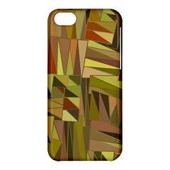 Earth Tones Geometric Shapes Unique Apple iPhone 5C Hardshell Case