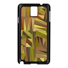 Earth Tones Geometric Shapes Unique Samsung Galaxy Note 3 N9005 Case (Black)