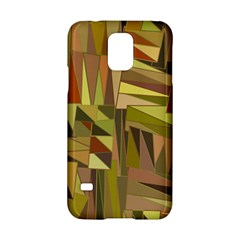 Earth Tones Geometric Shapes Unique Samsung Galaxy S5 Hardshell Case