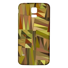 Earth Tones Geometric Shapes Unique Samsung Galaxy S5 Back Case (White)