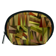 Earth Tones Geometric Shapes Unique Accessory Pouches (medium)