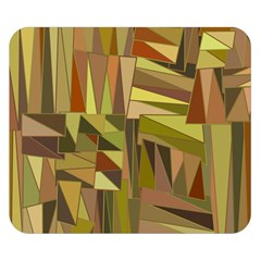 Earth Tones Geometric Shapes Unique Double Sided Flano Blanket (Small)