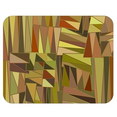 Earth Tones Geometric Shapes Unique Double Sided Flano Blanket (Medium)