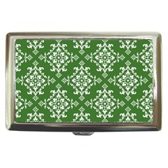 St Patrick S Day Damask Vintage Green Background Pattern Cigarette Money Cases