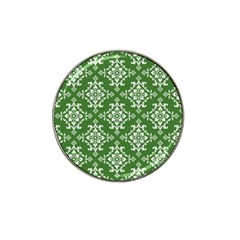 St Patrick S Day Damask Vintage Green Background Pattern Hat Clip Ball Marker (4 pack)