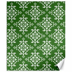 St Patrick S Day Damask Vintage Green Background Pattern Canvas 8  X 10
