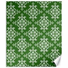 St Patrick S Day Damask Vintage Green Background Pattern Canvas 20  x 24
