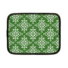 St Patrick S Day Damask Vintage Green Background Pattern Netbook Case (Small)
