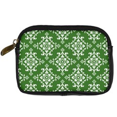 St Patrick S Day Damask Vintage Green Background Pattern Digital Camera Cases