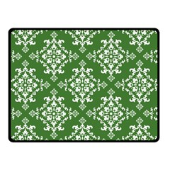 St Patrick S Day Damask Vintage Green Background Pattern Fleece Blanket (small)