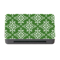 St Patrick S Day Damask Vintage Green Background Pattern Memory Card Reader with CF