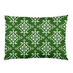St Patrick S Day Damask Vintage Green Background Pattern Pillow Case (Two Sides)