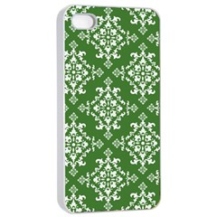St Patrick S Day Damask Vintage Green Background Pattern Apple iPhone 4/4s Seamless Case (White)
