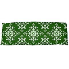 St Patrick S Day Damask Vintage Green Background Pattern Body Pillow Case (Dakimakura)