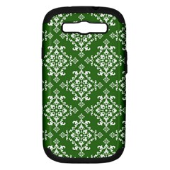 St Patrick S Day Damask Vintage Green Background Pattern Samsung Galaxy S III Hardshell Case (PC+Silicone)