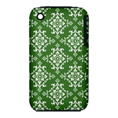 St Patrick S Day Damask Vintage Green Background Pattern Iphone 3s/3gs