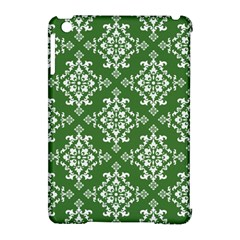 St Patrick S Day Damask Vintage Green Background Pattern Apple Ipad Mini Hardshell Case (compatible With Smart Cover)
