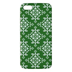 St Patrick S Day Damask Vintage Green Background Pattern Apple iPhone 5 Premium Hardshell Case