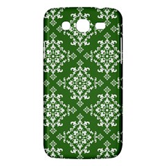 St Patrick S Day Damask Vintage Green Background Pattern Samsung Galaxy Mega 5.8 I9152 Hardshell Case