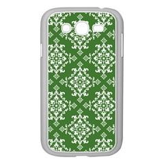 St Patrick S Day Damask Vintage Green Background Pattern Samsung Galaxy Grand Duos I9082 Case (white)