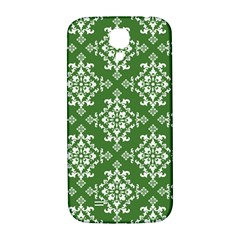 St Patrick S Day Damask Vintage Green Background Pattern Samsung Galaxy S4 I9500/I9505  Hardshell Back Case