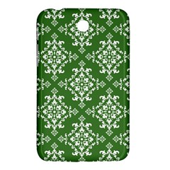 St Patrick S Day Damask Vintage Green Background Pattern Samsung Galaxy Tab 3 (7 ) P3200 Hardshell Case