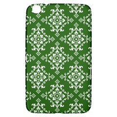 St Patrick S Day Damask Vintage Green Background Pattern Samsung Galaxy Tab 3 (8 ) T3100 Hardshell Case