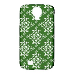 St Patrick S Day Damask Vintage Green Background Pattern Samsung Galaxy S4 Classic Hardshell Case (PC+Silicone)