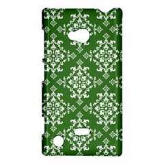 St Patrick S Day Damask Vintage Green Background Pattern Nokia Lumia 720