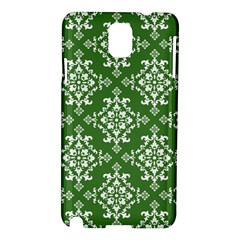 St Patrick S Day Damask Vintage Green Background Pattern Samsung Galaxy Note 3 N9005 Hardshell Case