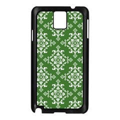 St Patrick S Day Damask Vintage Green Background Pattern Samsung Galaxy Note 3 N9005 Case (Black)