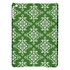 St Patrick S Day Damask Vintage Green Background Pattern Ipad Air Hardshell Cases