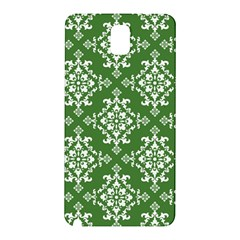 St Patrick S Day Damask Vintage Green Background Pattern Samsung Galaxy Note 3 N9005 Hardshell Back Case