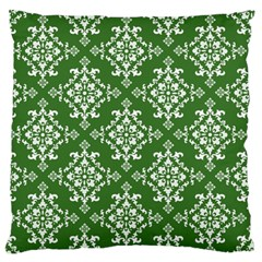 St Patrick S Day Damask Vintage Green Background Pattern Large Flano Cushion Case (Two Sides)