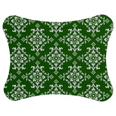 St Patrick S Day Damask Vintage Green Background Pattern Jigsaw Puzzle Photo Stand (Bow)