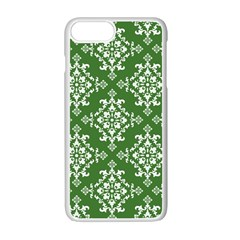 St Patrick S Day Damask Vintage Green Background Pattern Apple Iphone 7 Plus White Seamless Case