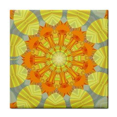 Sunshine Sunny Sun Abstract Yellow Tile Coasters