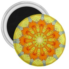 Sunshine Sunny Sun Abstract Yellow 3  Magnets